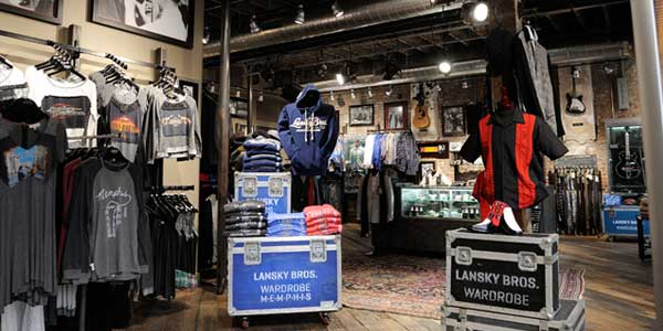 GoodShow exhibit Lansky Brothers Memphis Retail